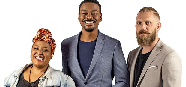 Zola Nene, Harmony Katulondi and Gregory Czarnecki on 'The Taste Master SA'. (Photo supplied: SABC 3)