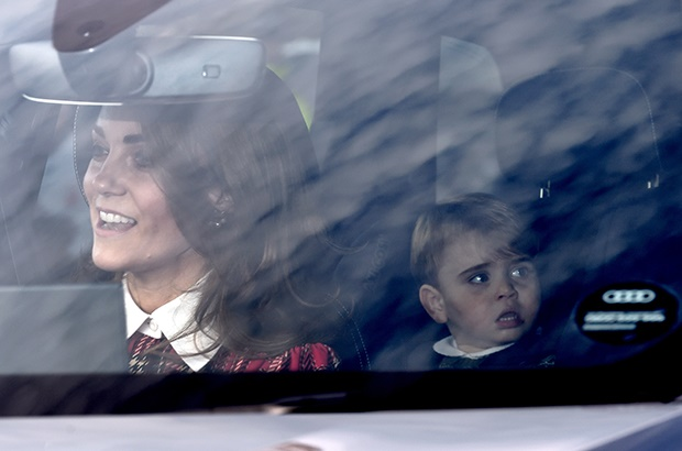 Prince Louis arriving for the Queens Christmas lun