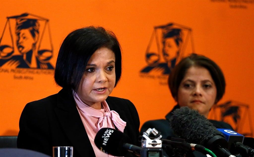 National Director of Public Prosecutions Shamila Batohi with the NPA's Investigative Directorate head Hermione Cronje. (Gallo Images, Phill Magakoe, file)