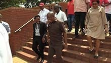 WATCH | Malema denies he and Ndlozi assaulted police officer at Mama Winnie's funeral