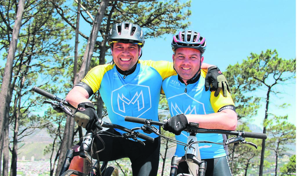 Dr Karlheinz Jehle and Darren Robertson ready to take on the Wines2Whales Mountain Bike Race. PHOTO: Angela Gsell