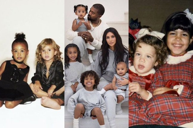 The Kardashian-Jenner clan love nothing more than to get glammed up for a Christmas card photo shoot.