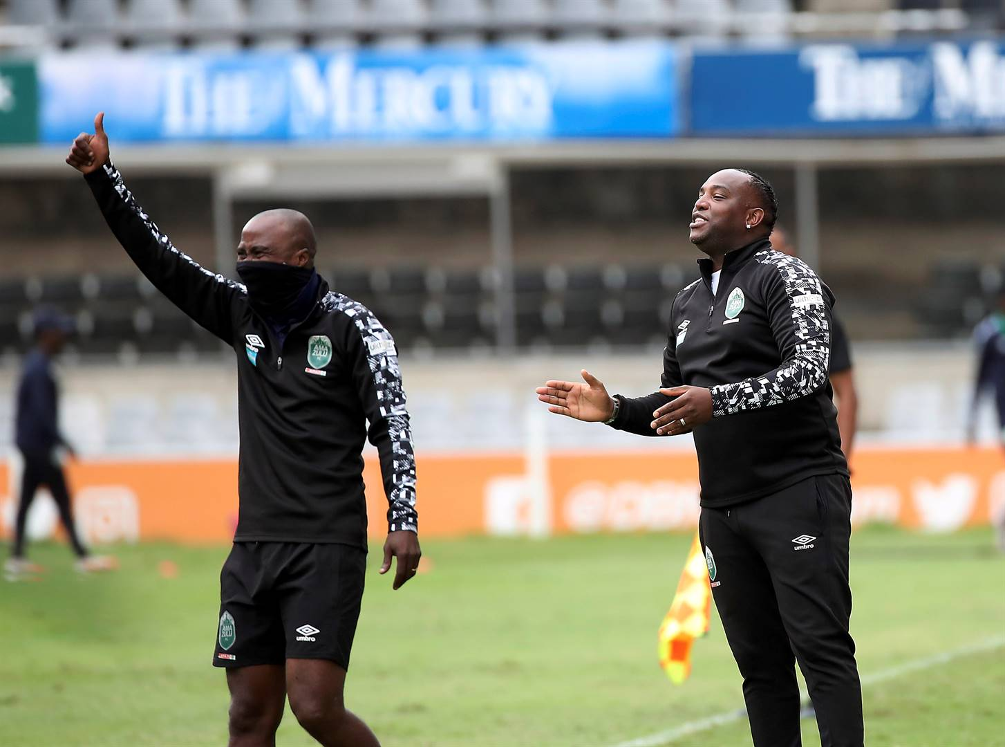 Siyabonga Nomvethe and Benni McCarthy have forged a good understanding on the AmaZulu technical bench. Picture: Gavin Barker / BackpagePix