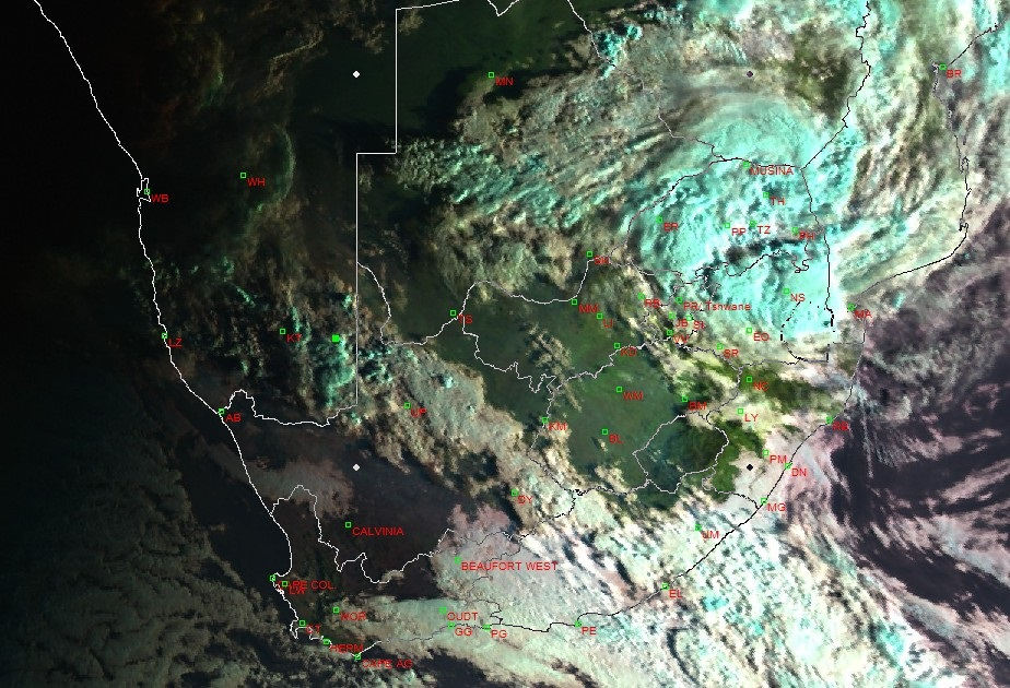 The storm is expected to bring heavy rain in some areas of Limpopo and Mpumalanga on Sunday, with rainfall over northern KwaZulu-Natal on Monday.
