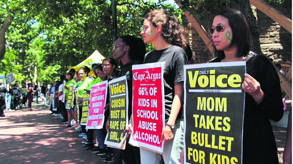 Teachers, principals and members of the public joined the Cape Town Museum of Childhood's statement piece along Government Avenue and Wale Street in the Cape Town city centre on Thursday 21 November.