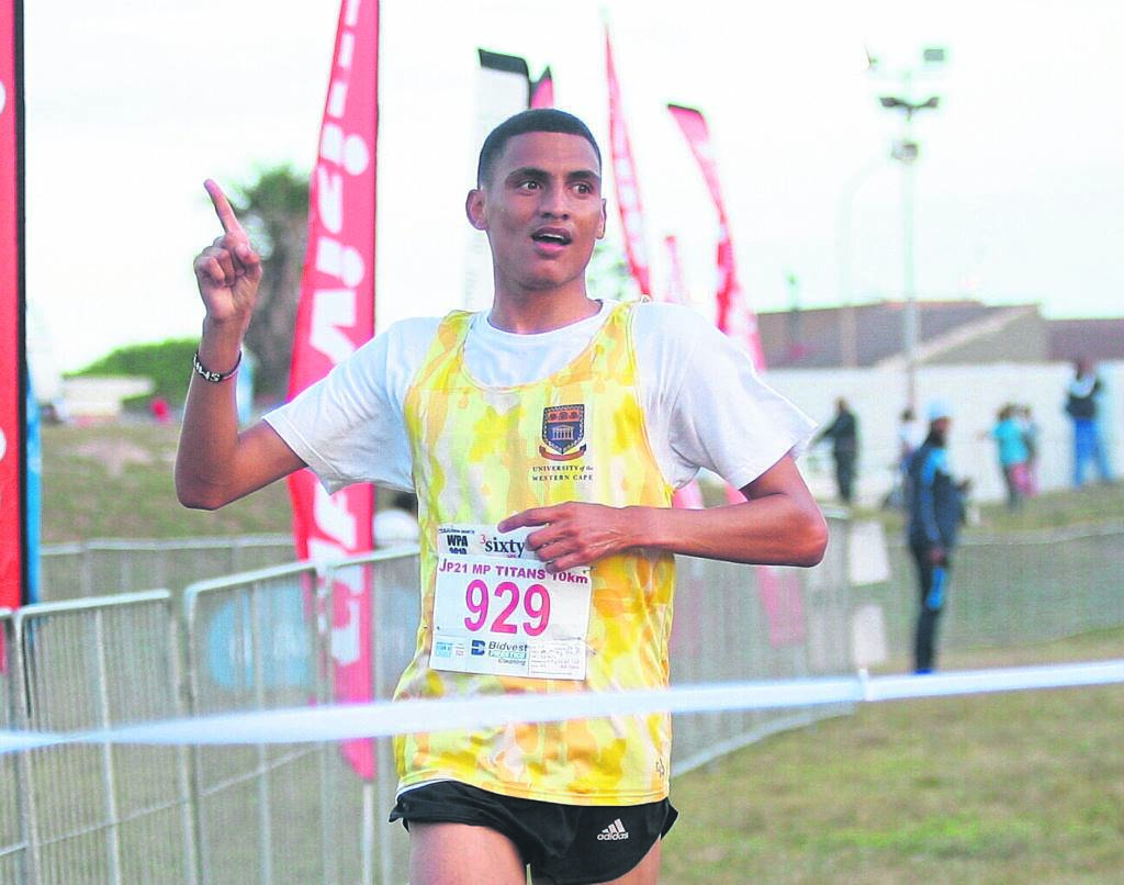 WC's Ashley Smith wins the Titans JP21 10km race for the second consecutive year, in a time of 00:31:09. PHOTO: RASHIED ISAACS