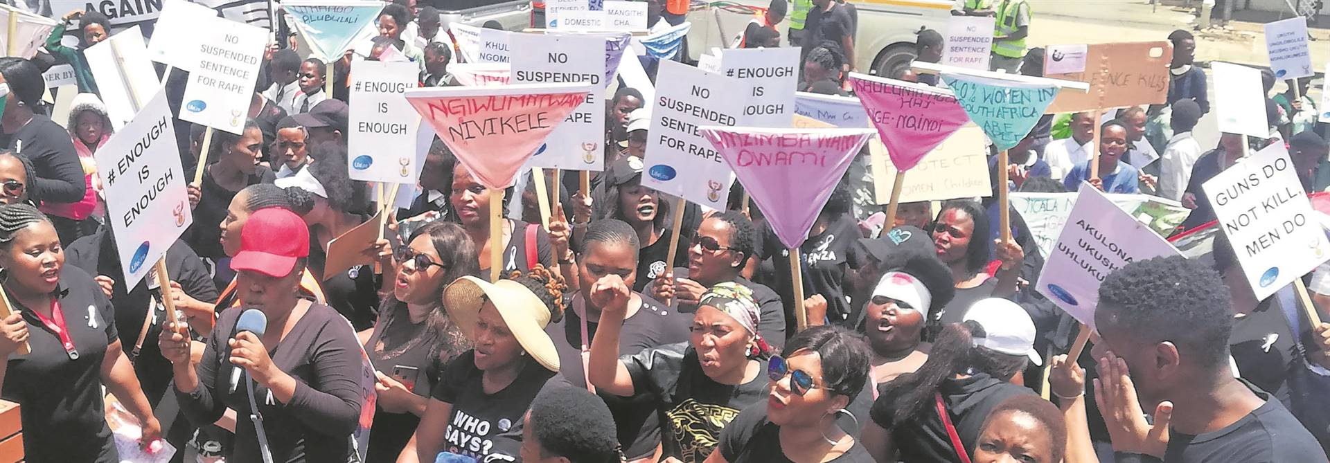 PHOTO: lethiwe makhanyaLifeLine joined with other organisations outside the Pietermaritzburg Maintenance and Sexual Offences Court to deliver their memorandum.