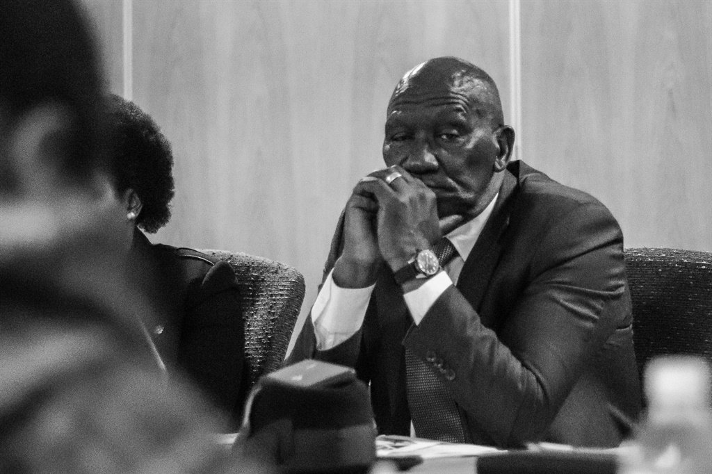 Police Minister Bheki Cele attending the Portfolio Committee on Police's meeting. (Jan Gerber, News24)