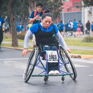 Being in a wheelchair shouldn't put one off participating in sport.