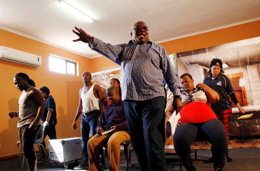Veteran scriptwriter Paul Rapetsoa directing one of the stage plays at their township based performing arts village in Seshego. Picture: Lebogang Makwela
