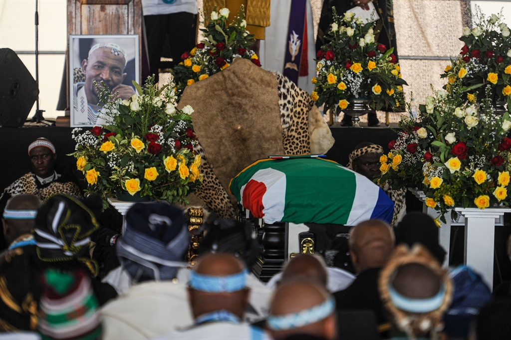AmaXhosa Monarch, King Zwelonke Mpendulo Sgcawu, was laid rest to this morning at Nqadu Great Place, in kuGatyane in the Eastern Cape. Honour and dignity were  the order of the day as  all organs of the state worked together to lay the monarch to rest. President Cyril Ramaphosa and former president Thabo Mbeki were among the leaders who attended the funeral.  Picture: Rosetta Msimango