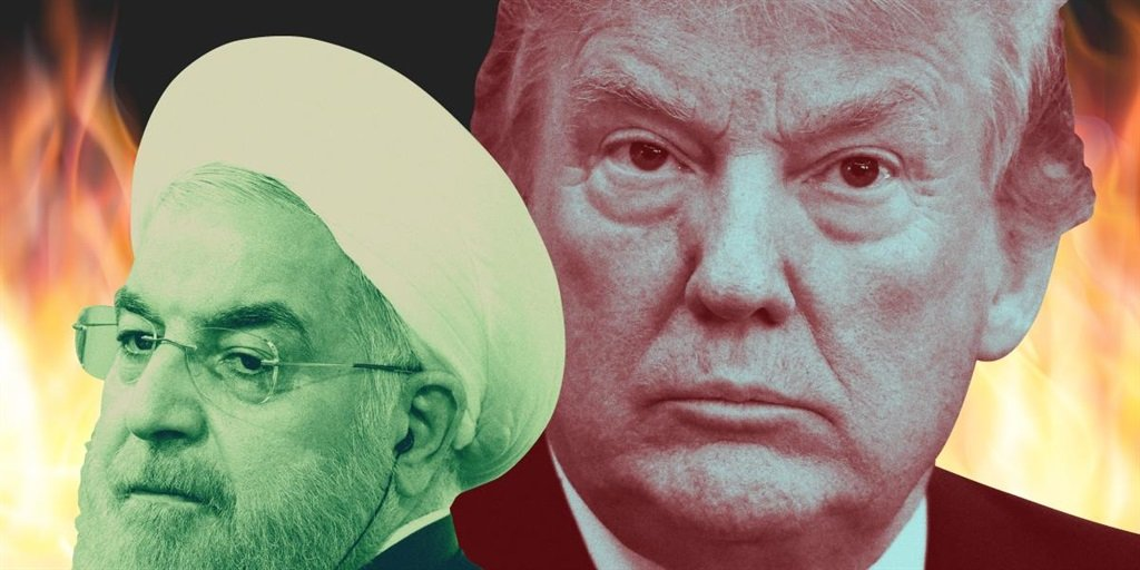 Iranian leader Hassan Rouhani and US President Donald Trump
