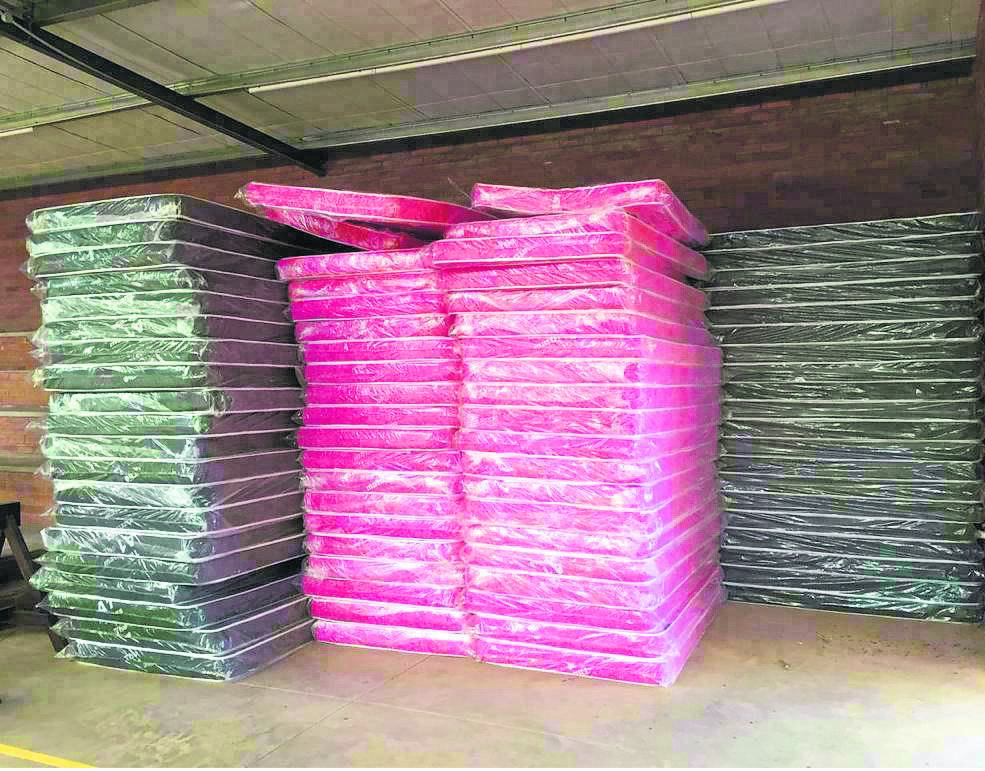 Mattresses from Making A Difference South Africa (MADSA) were donated to areas affected by the recent tornado in New Hanover.PHOTO: SUPPLIED