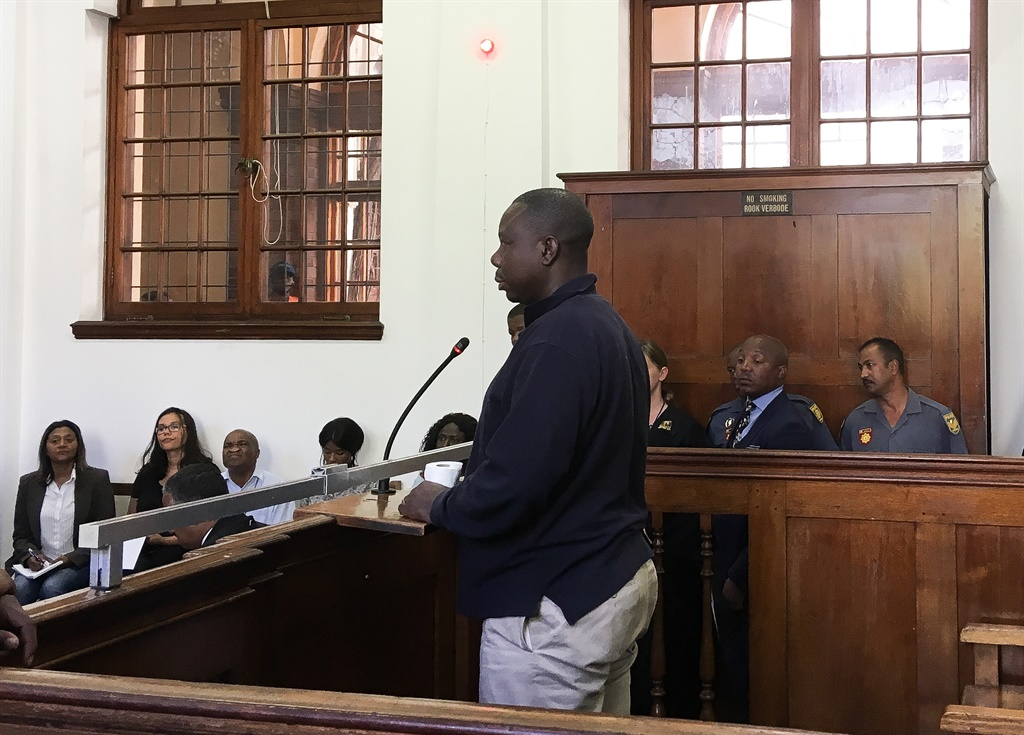 Jean-Pierre Balous in the dock in the Cape Town Magistrate's Court. (Jan Geber/News24)