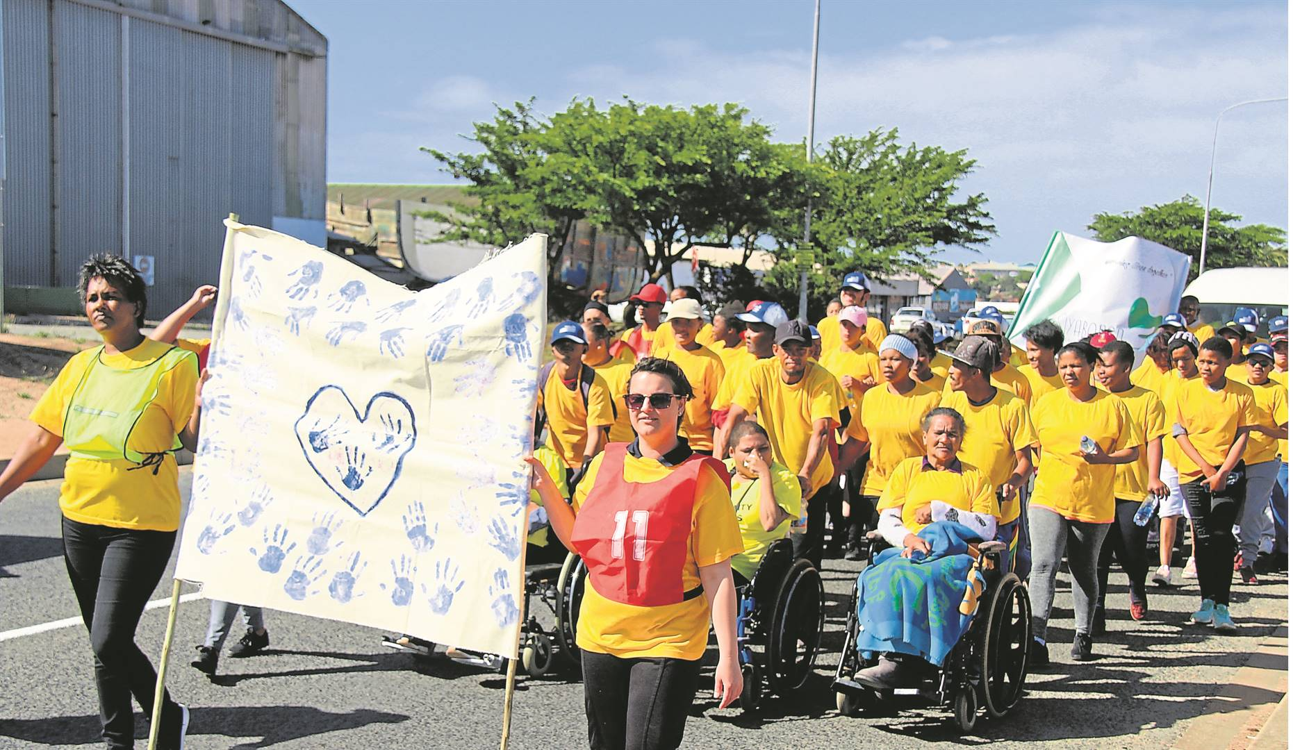 Tuesday 3 December is International Day of Disabled Person. To mark the day staff and residents of Siyabonga marched down Velddrif Road to create awareness of persons who are differently abled and the challenges they face on a daily basis.Picture: Keanan Harmse