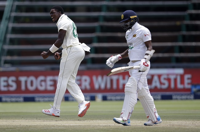 Lutho Sipamla ended his debut Test series with 10 wickets (AFP)