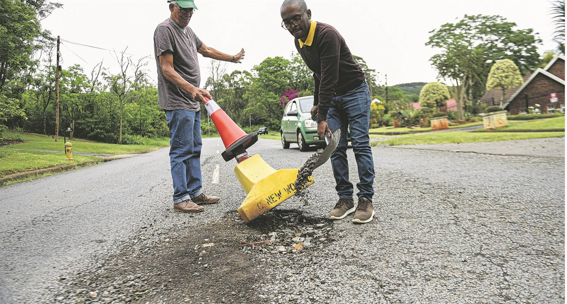Potholes are a metaphor for the systemic rot in South Africa, says the writer. (Moeketsi Mamane, file)