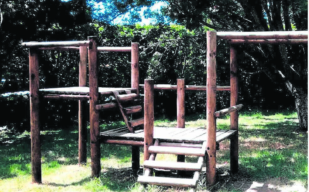 A bed of wood chips will soon be placed around the climbing equipment at Palmboom Road Park.