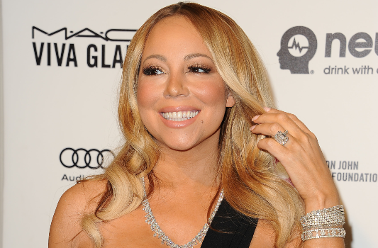 Mariah Carey attends the 24th annual Elton John AIDS Foundation's Oscar viewing party. Photographed by Jason LaVeris
