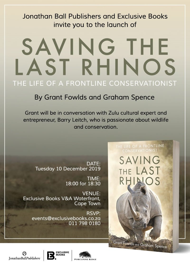 South African conservationist Grant Fowlds has a u