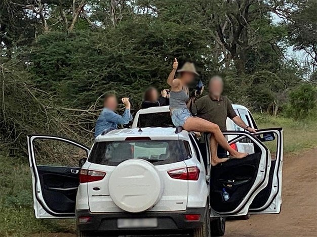 Kruger Park has fined tourists for getting out of