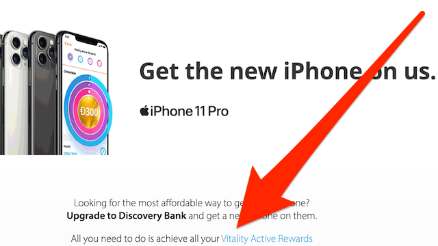 Discovery Bank's free iPhone