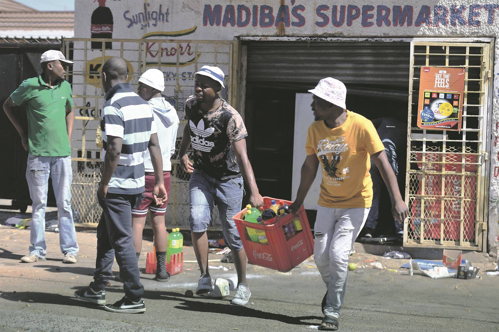 Foreign-owned shops were looted in Malvern, Turffontein and the Johannesburg CBD. The situation in most areas remained tense, with most shops being vandalised. Picture: Felix Dlangamandla