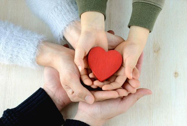 children parents heart happy love
