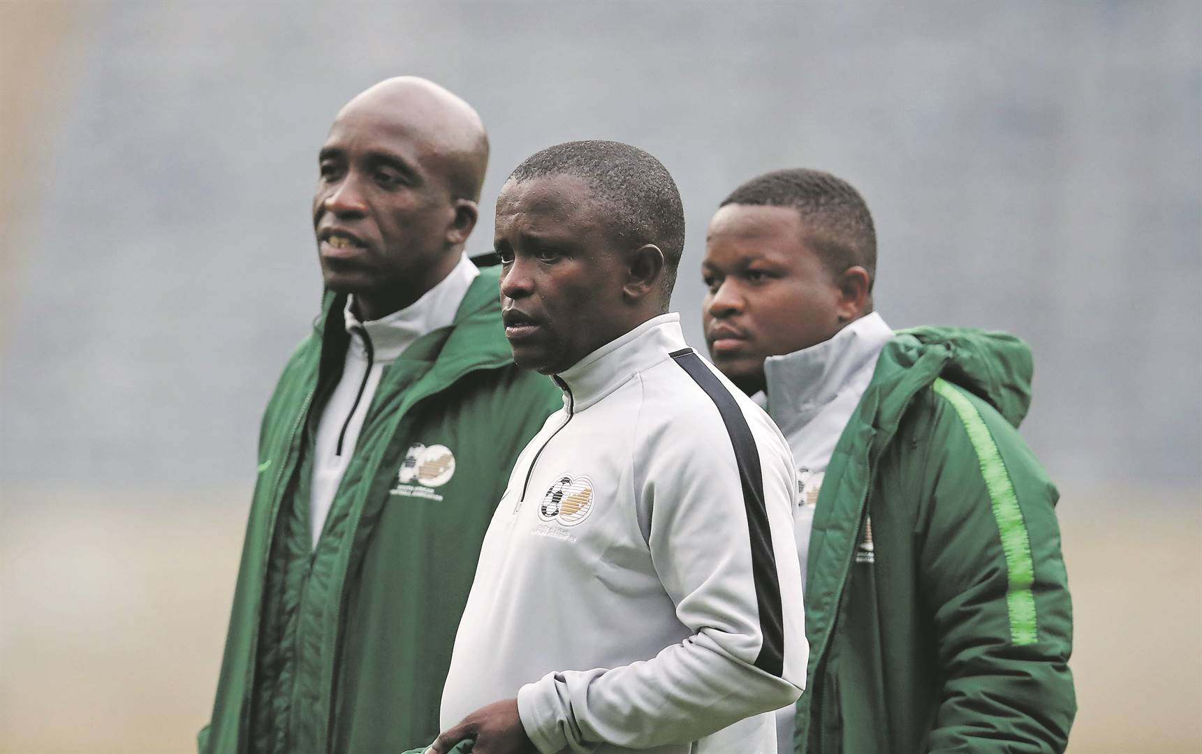 Kwanele Kopo (right) is one of the unsung heroes of the SA Under-23 head coach David Notoane's Olympics backroom staff. Picture: Muzi Ntombela / BackpagePix