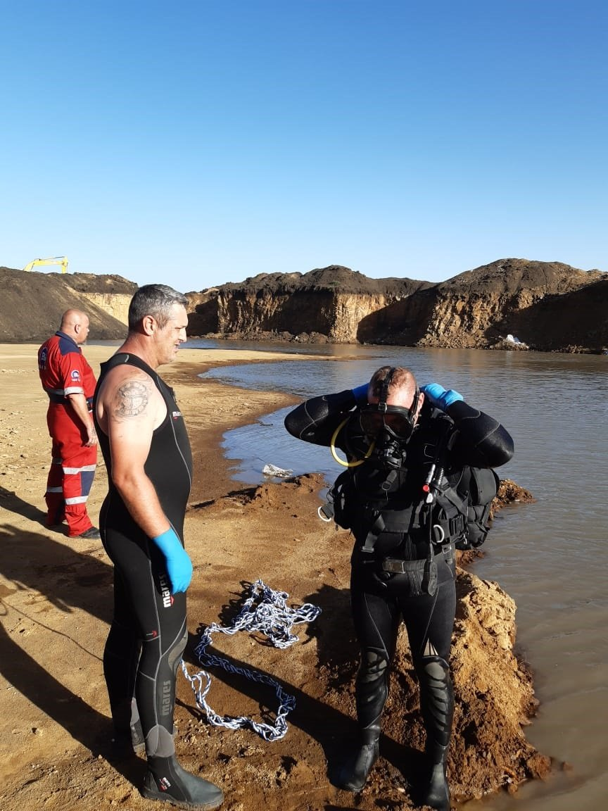 Excavation site in Evander where a 12-year-old boy drowned. (SUPPLIED)