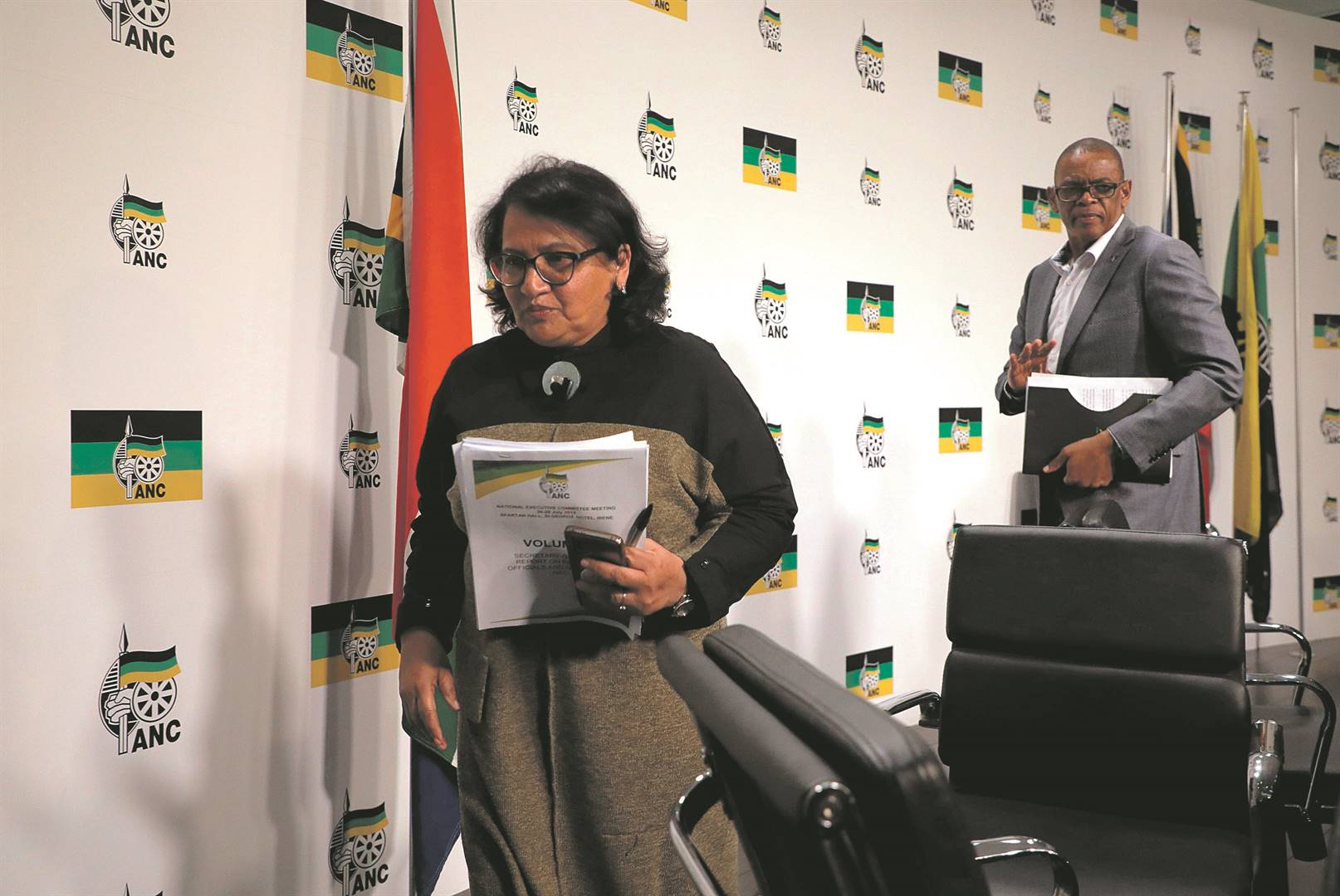 ANC secretary-general Ace Magashule and his deputy Jessie Duarte seem to be singing from the same hymn sheet on corruption. Picture: Sandile Ndlovu
