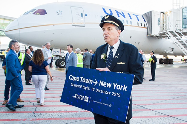 United launched its new direct flight between Cape