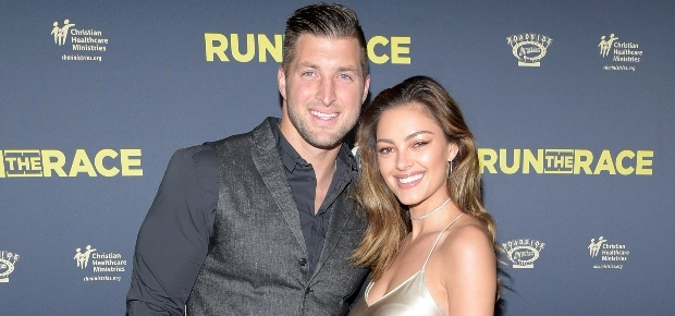 Tim Tebow and Demi-Leigh Nel-Peters. (Photo: Getty Images)