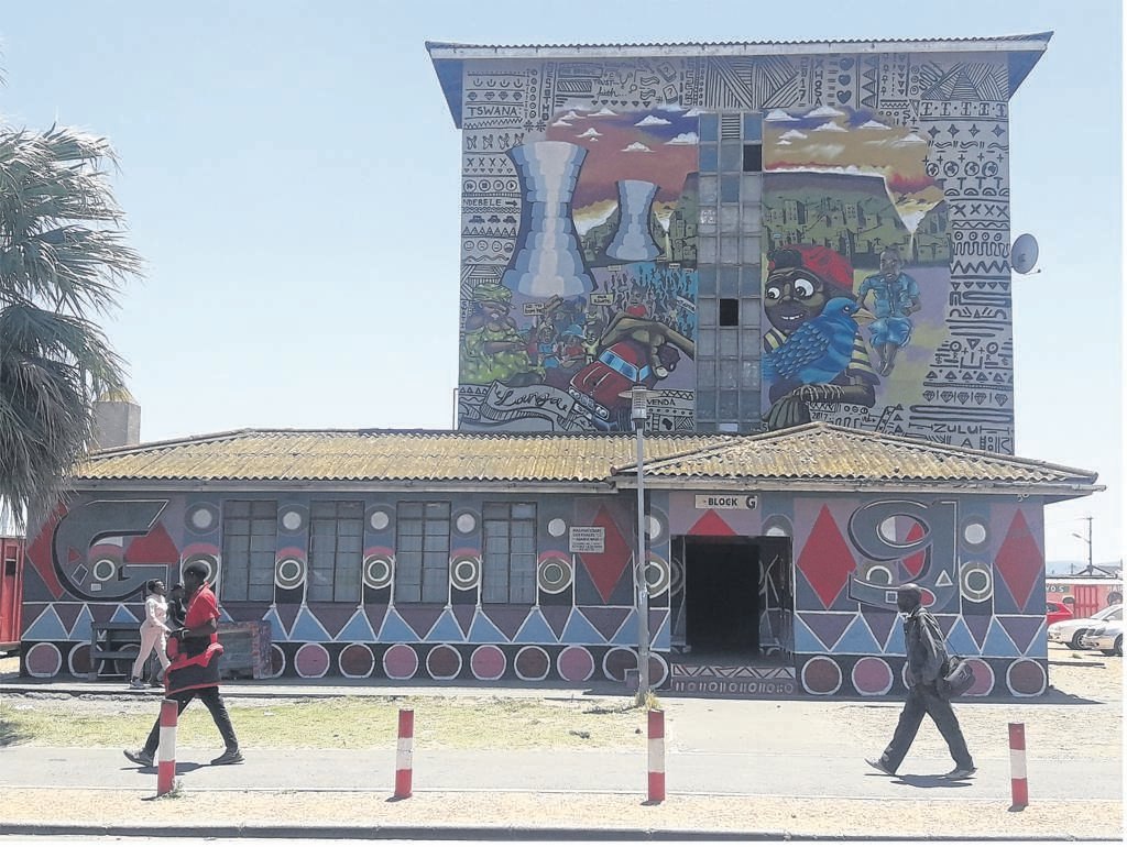 One of the flats decorated with mosaic art.PHOTOS: UNATHI OBOSE