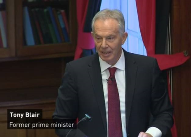 Tony Blair slams the Labour party strategy. (Screen grab, ITN)