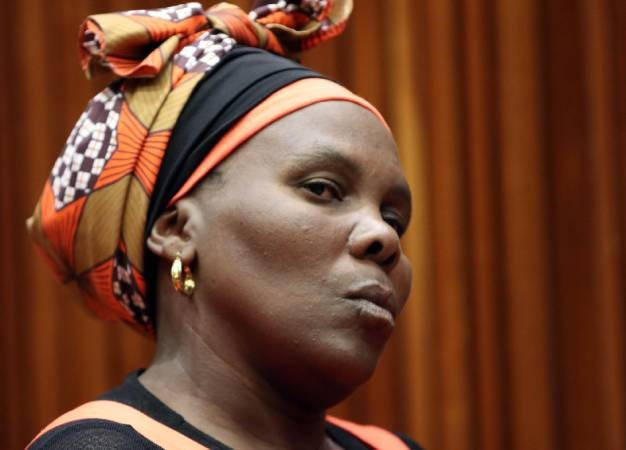 Rosina Komape, Michael's mother is seen during the judgement on her son's case at the Polokwane High Court. (Antonio Muchave, Gallo Images, Sowetan, file)