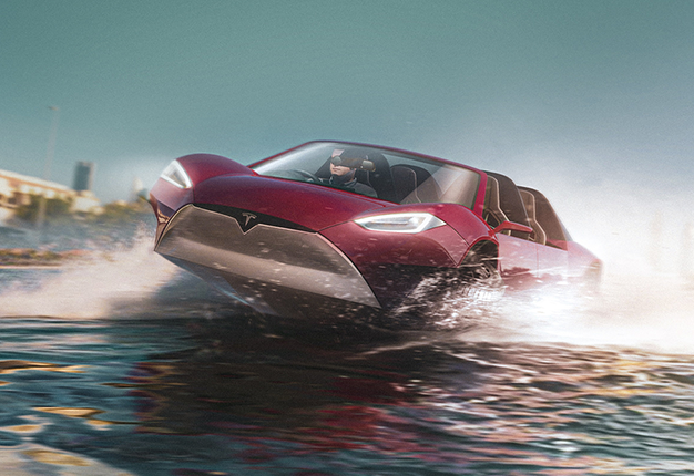 Tesla Amphibious car
