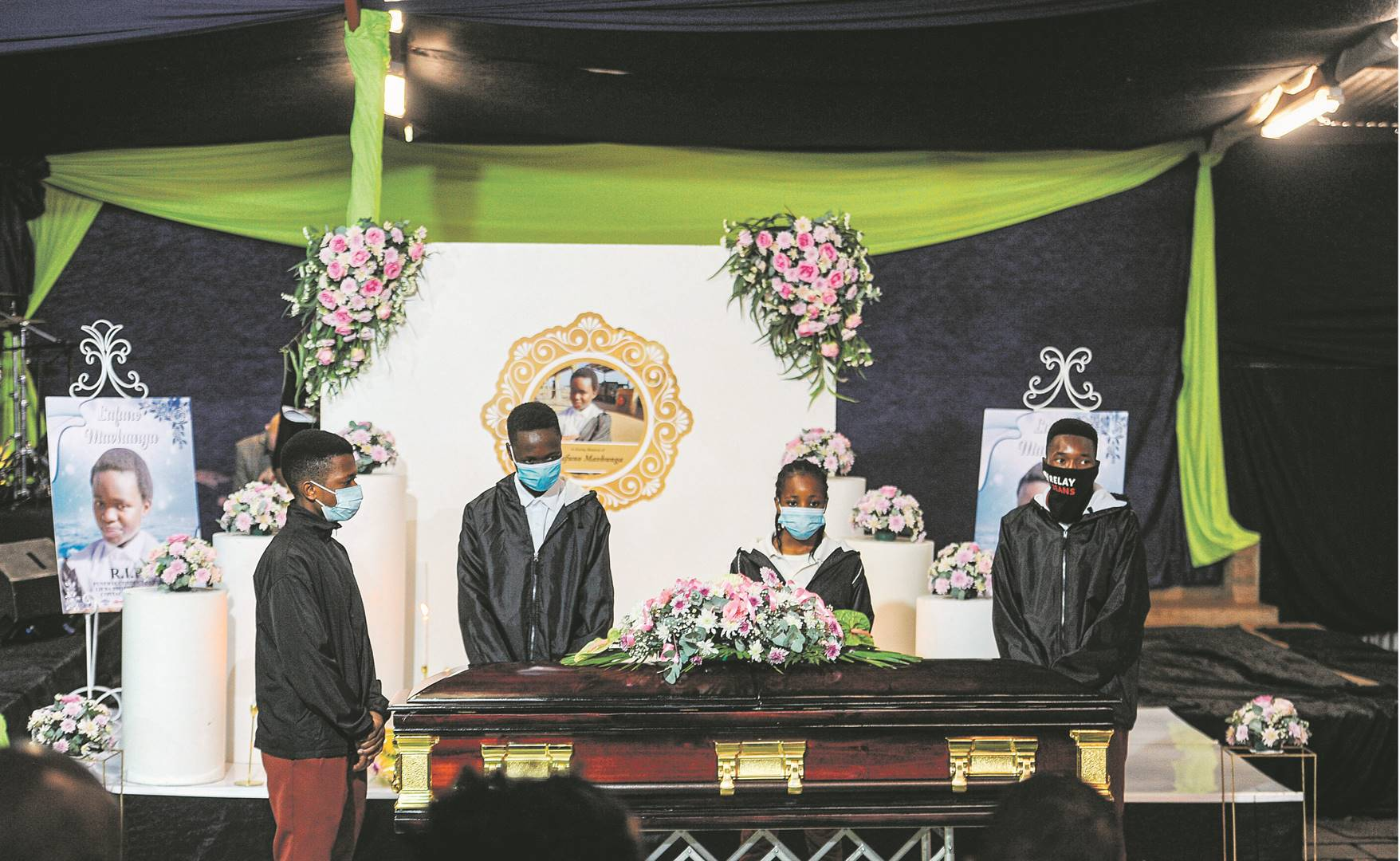 Pupils from Mbilwi Secondary School paid their last respects to Lufuno Mavhunga, who committed suicide on Monday after allegedly being bullied at school. A video of her assault went viral on social media. Picture: Rosetta Msimango