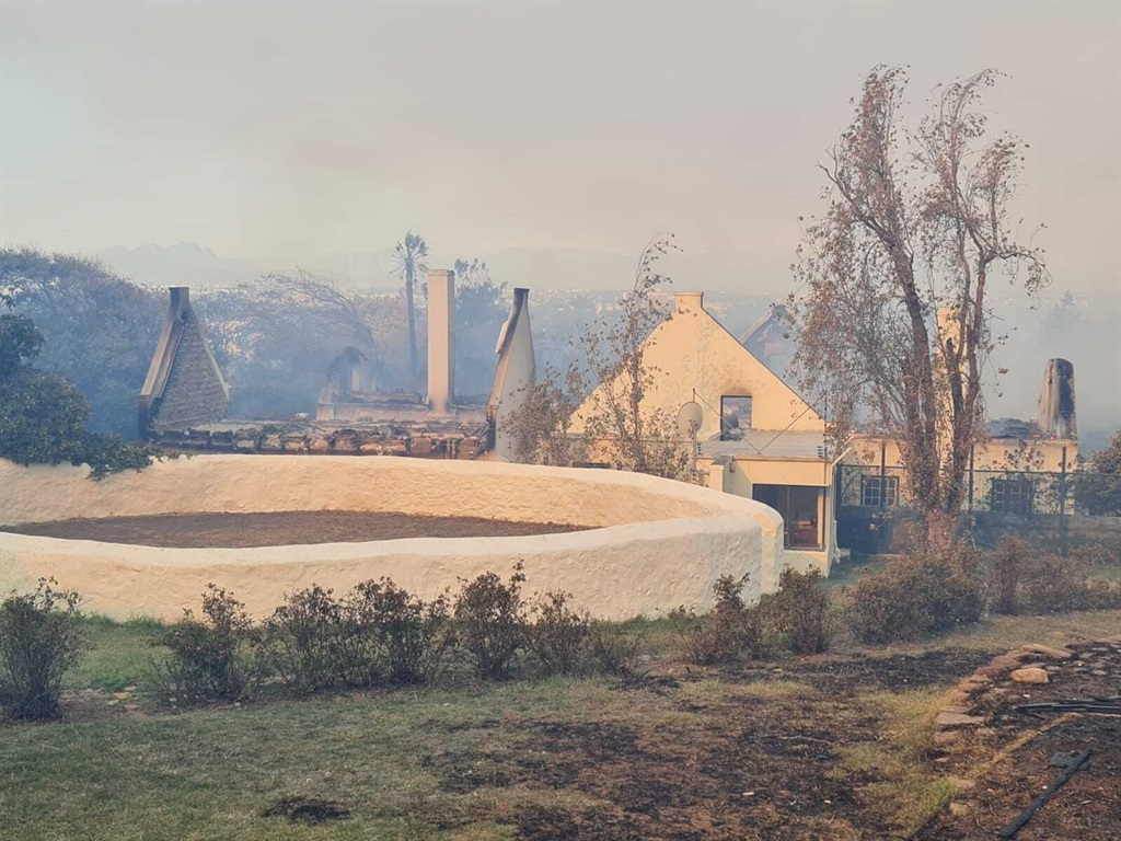 The Mostert Mill after the fire swept through. (Ci