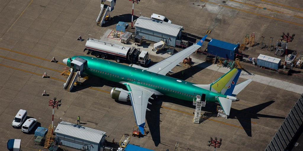 A Boeing 737 MAX airplane is seen parked at a Boeing facility on August 13, 2019 in Renton, Washington.