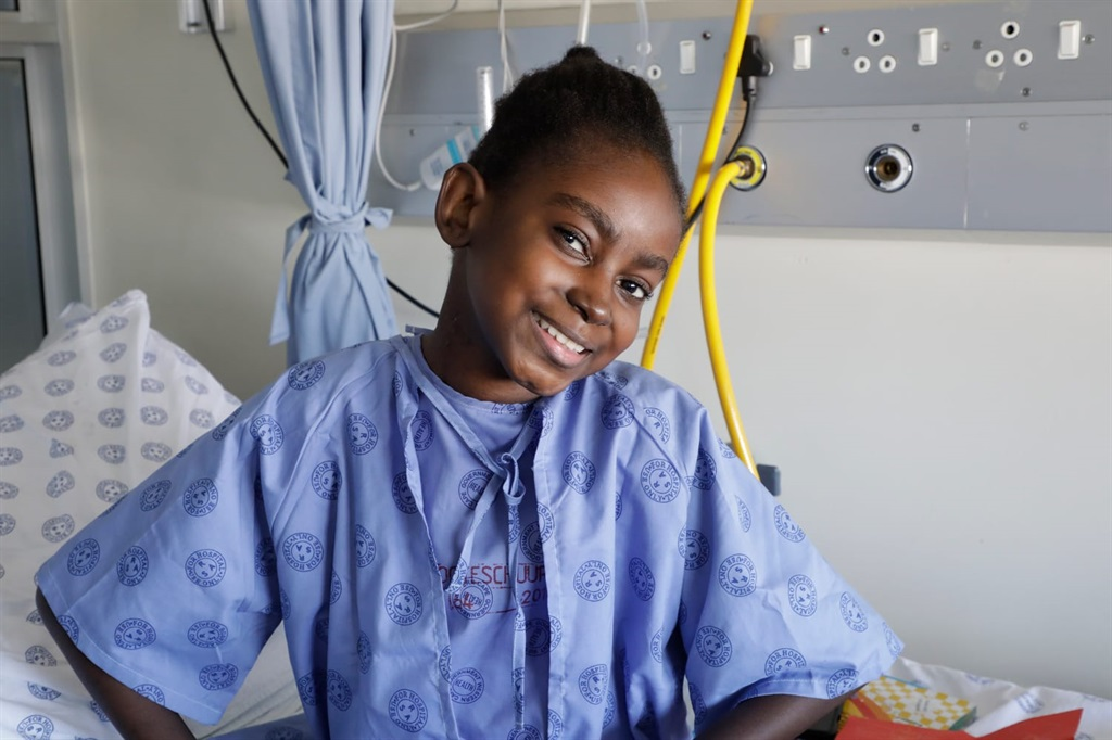 Parusia Muhigirwa, 13, is recovering well after heart transplant surgery carried out at the Red Cross War Memorial Children's Hospital.