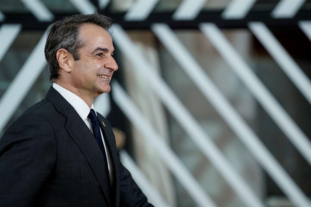 Greece Prime Minister Kyriakos Mitsotakis. (Kenzo Tribouillard, AFP)