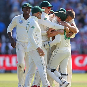 Proteas celebrate at Newlands (Gallo)
