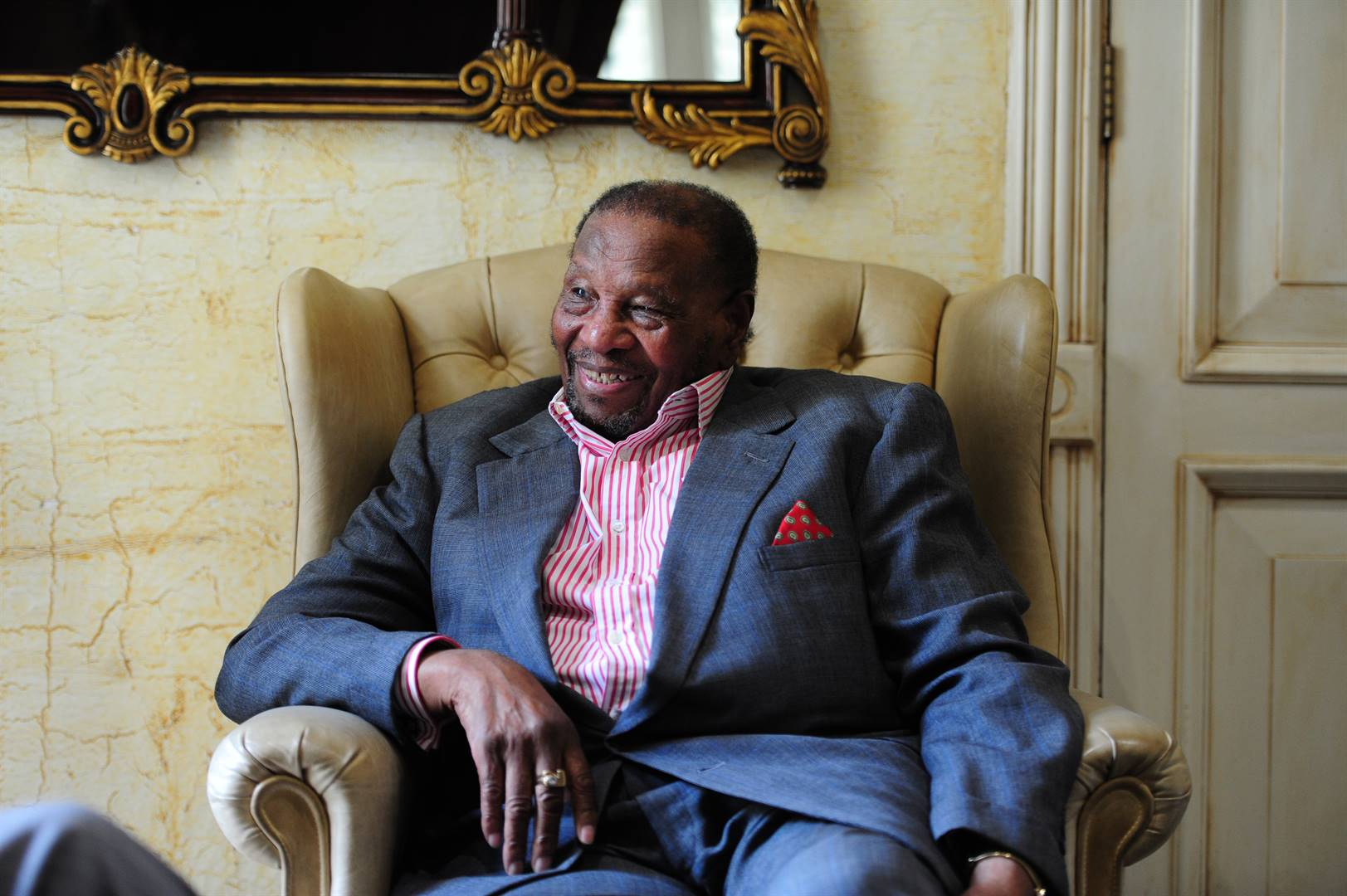 Businessperson Dr Richard Maponya at his home in Hyde Park. Picture: Muntu Vilakazi/City Press/File