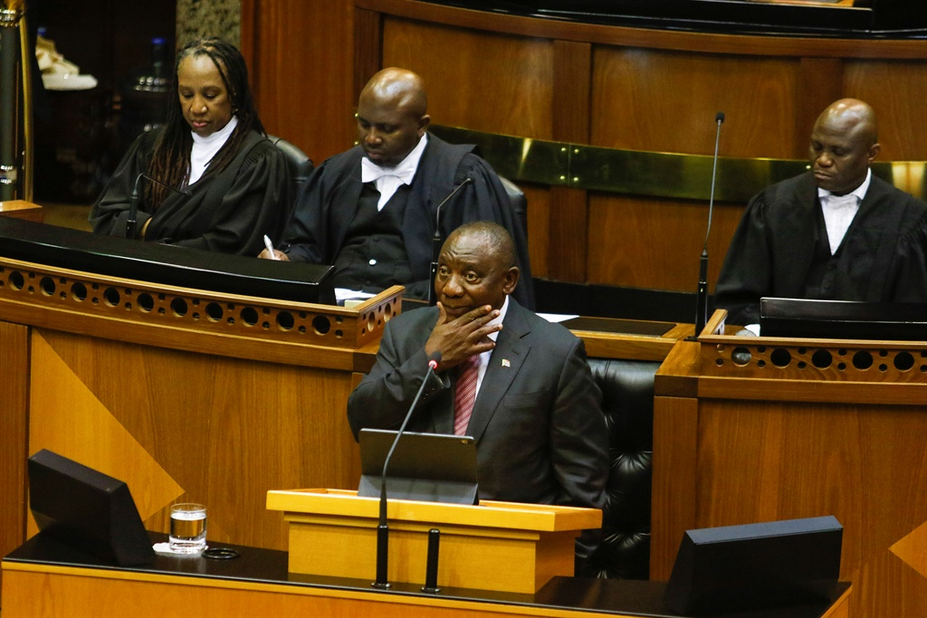 President Cyril Ramaphosa in the National Assembly.