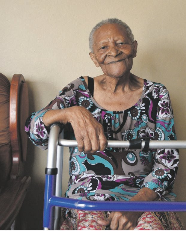 Retired Pietermaritzburg nurse Constance Ramorobi, who turned 100 years old on December 26, is battling to get her gratuity from the Government Employees Pension Fund (GEPF) 20 years after retiring. PHOTO: moeketsi mamane