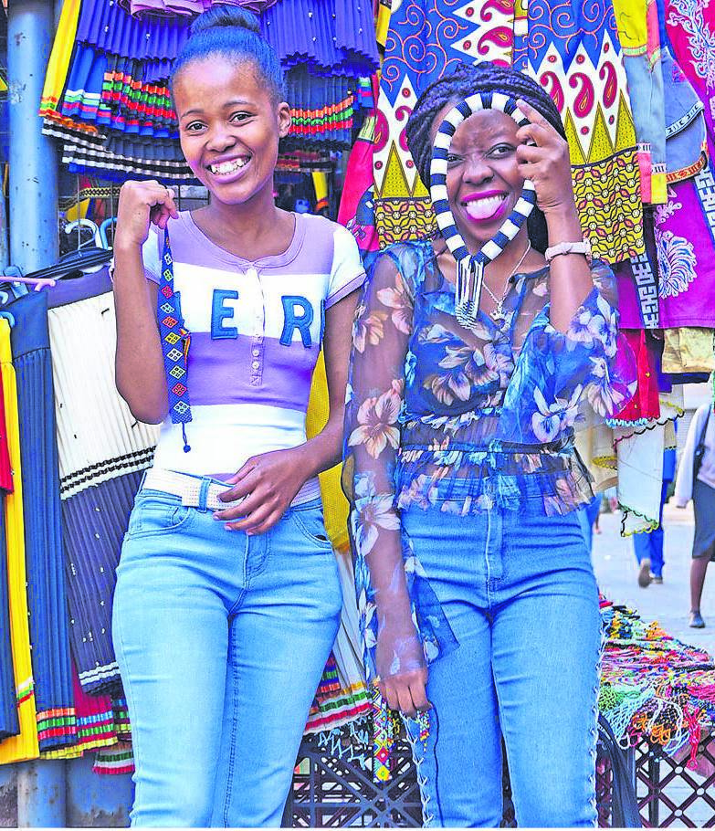 photo: Moeketsi MamaneAmanda Msomi (left) Inganathi Manyamalala say they love supporting small business owners who have chosen to use their talents to make a living during this tough economic climate, when jobs are scarce.