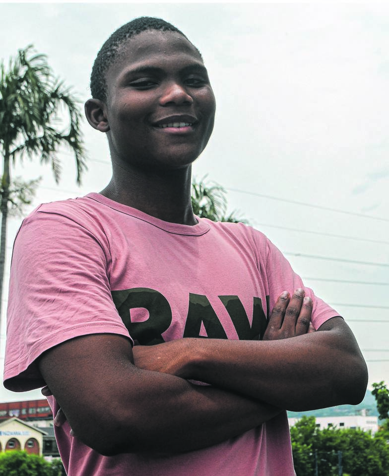 Mconjwana High's Mnqobi Shange continued the school's proud tradition and scooped seven As for matric.PHOTO: kerushun pillay