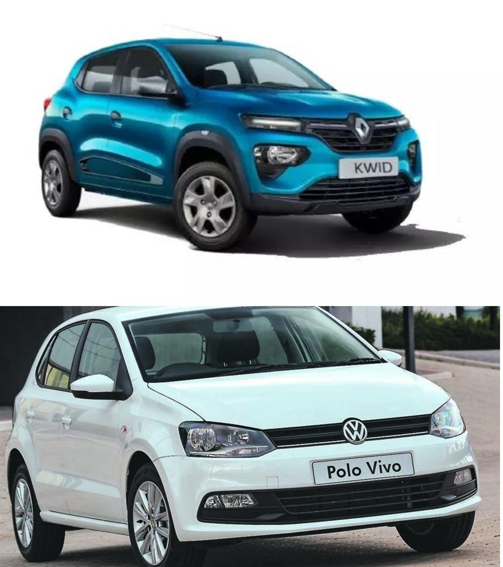 Renault Kwid and Volkswagen Polo Vivo.