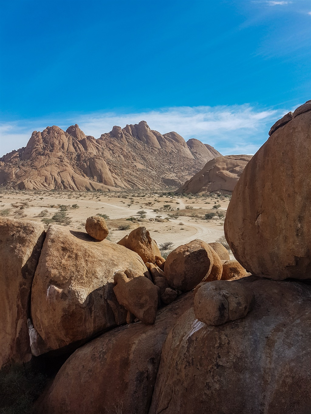 spitzkoppe landscape and rock formations